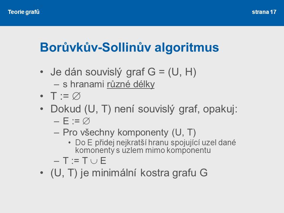 Borůvkův-Sollinův algoritmus