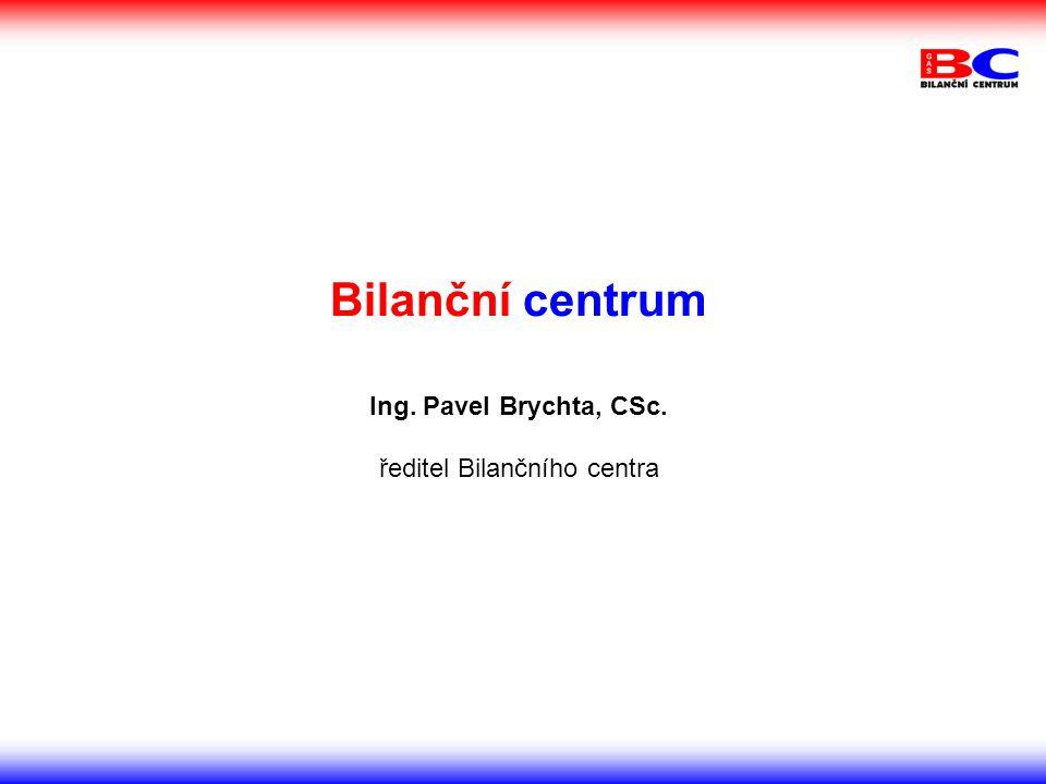 Bilanční centrum Ing. Pavel Brychta, CSc. ředitel Bilančního centra