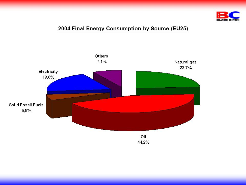2004 Final Energy Consumption by Source (EU25)