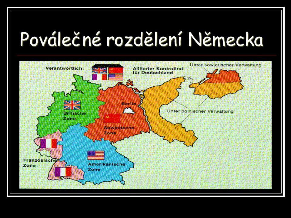 Poválečné rozdělení Německa