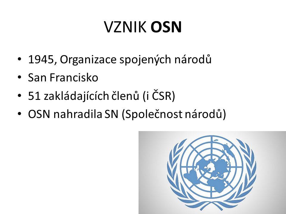 VZNIK OSN 1945, Organizace spojených národů San Francisko