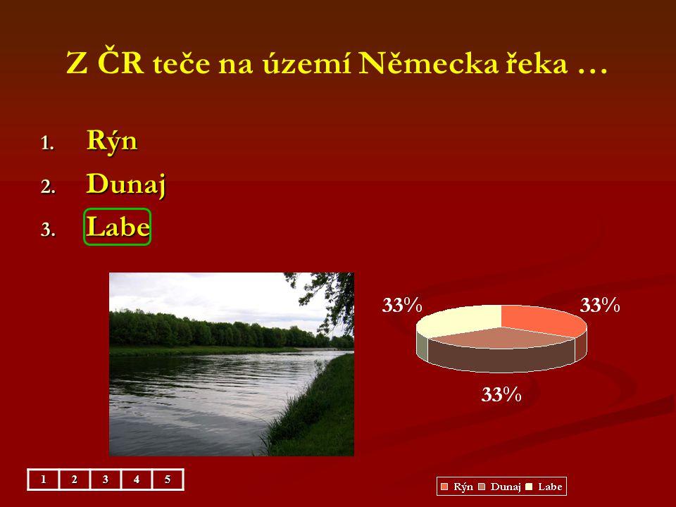 Z ČR teče na území Německa řeka …