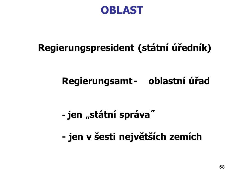 OBLAST Regierungspresident (státní úředník)