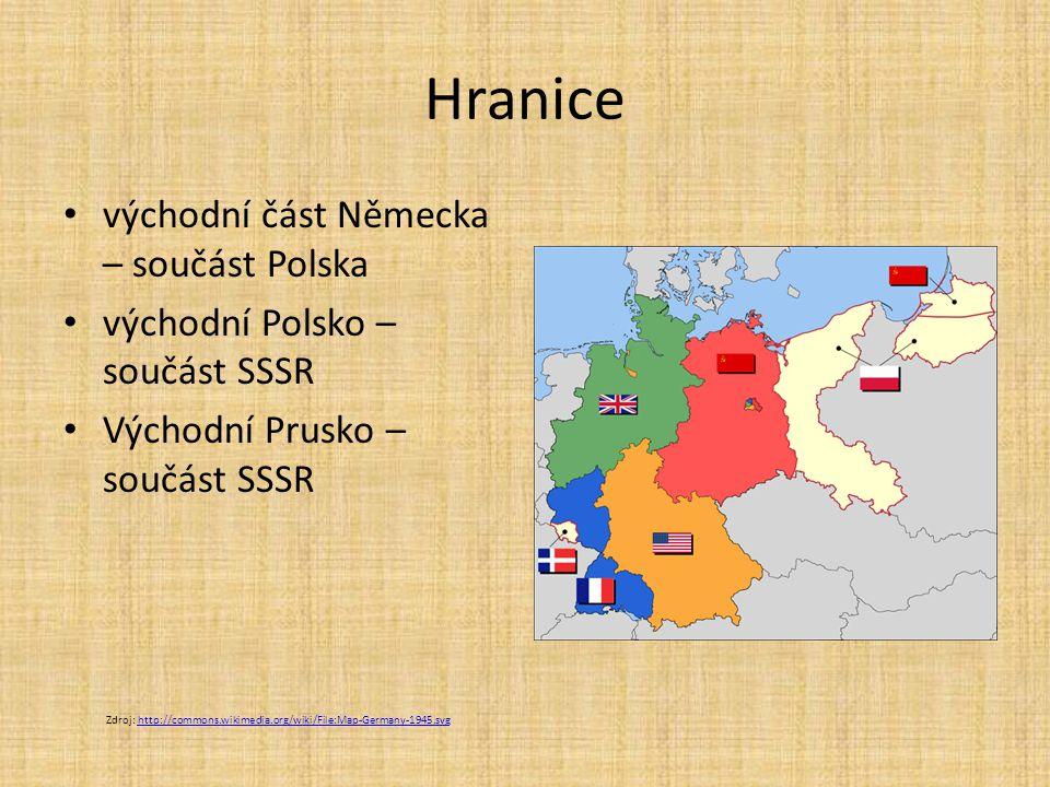Hranice východní část Německa – součást Polska