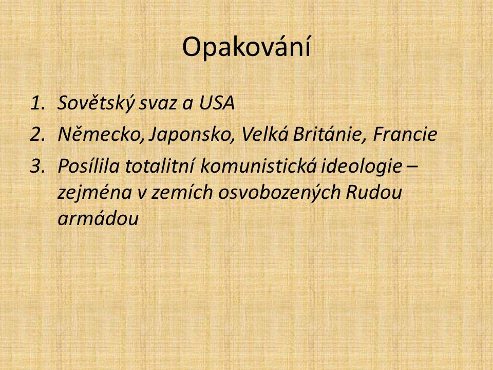 Opakování Sovětský svaz a USA