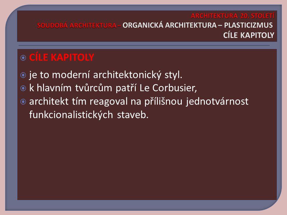 je to moderní architektonický styl.