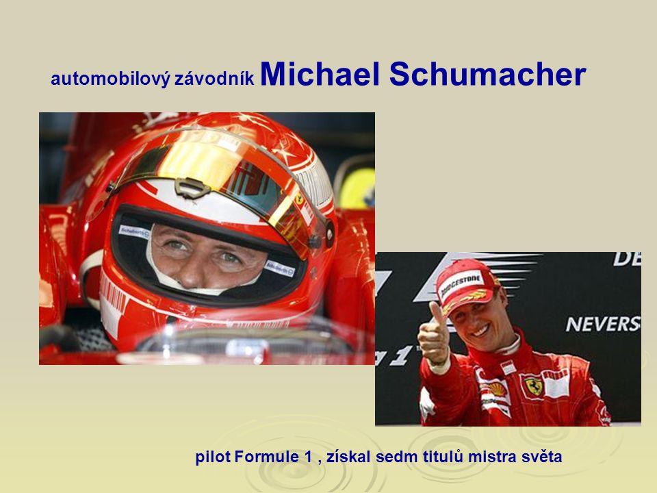 automobilový závodník Michael Schumacher
