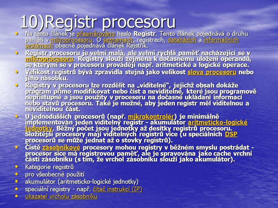 10)Registr procesoru