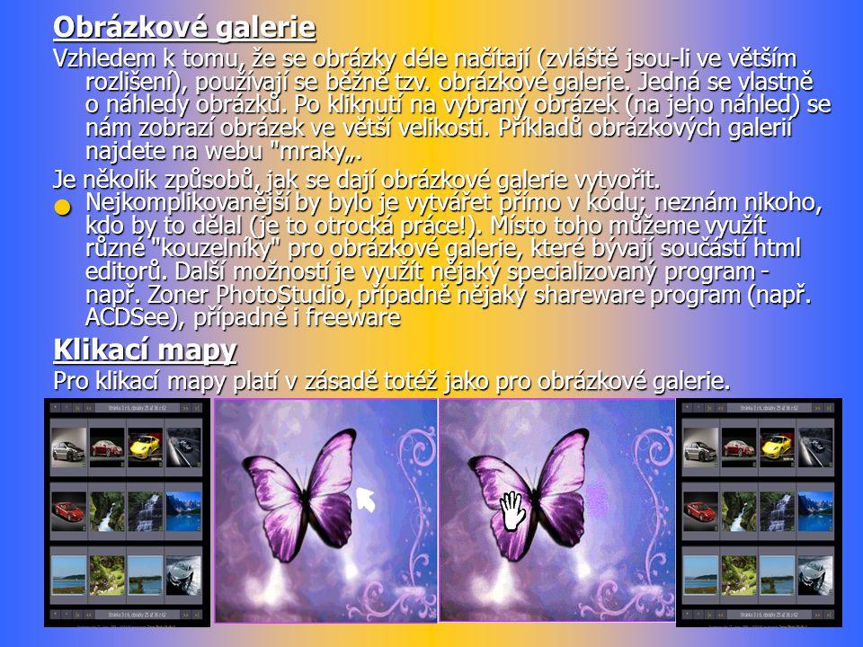 Obrázkové galerie Klikací mapy