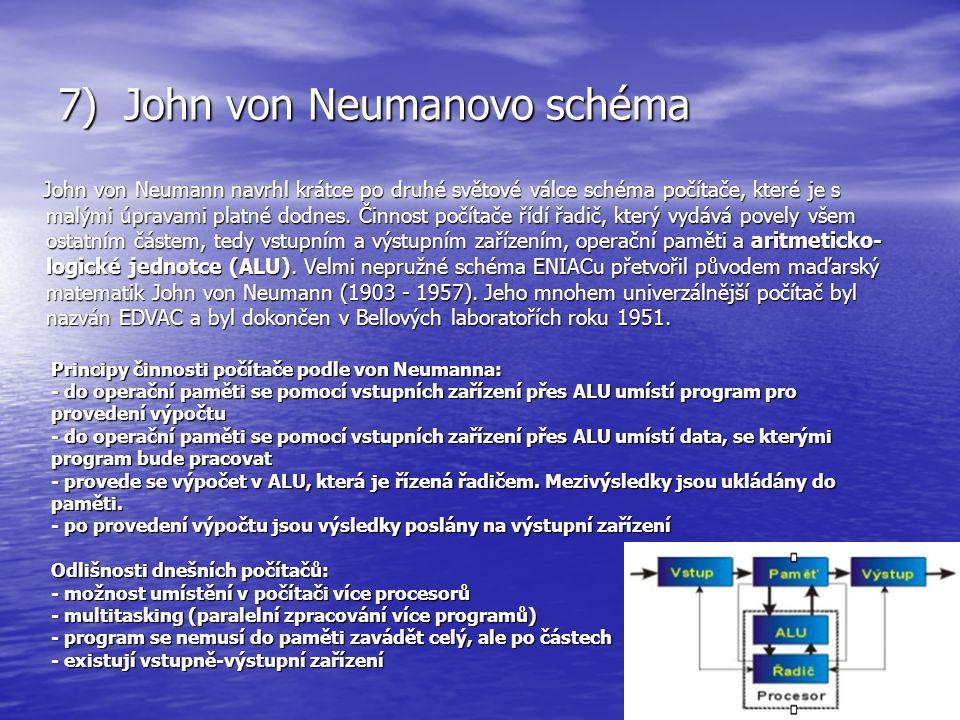 7) John von Neumanovo schéma