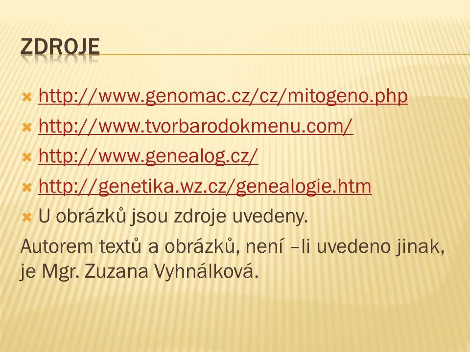 Zdroje http://www.genomac.cz/cz/mitogeno.php