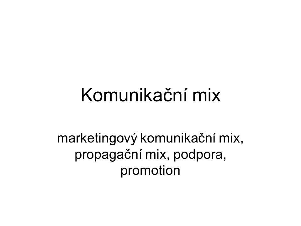 marketingový komunikační mix, propagační mix, podpora, promotion