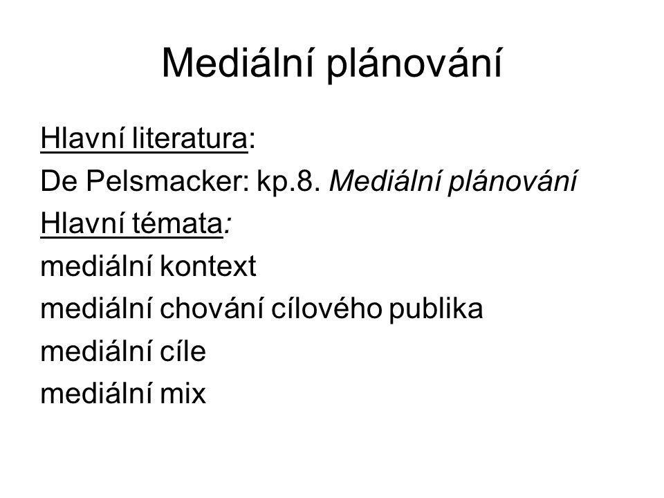 Mediální plánování Hlavní literatura: