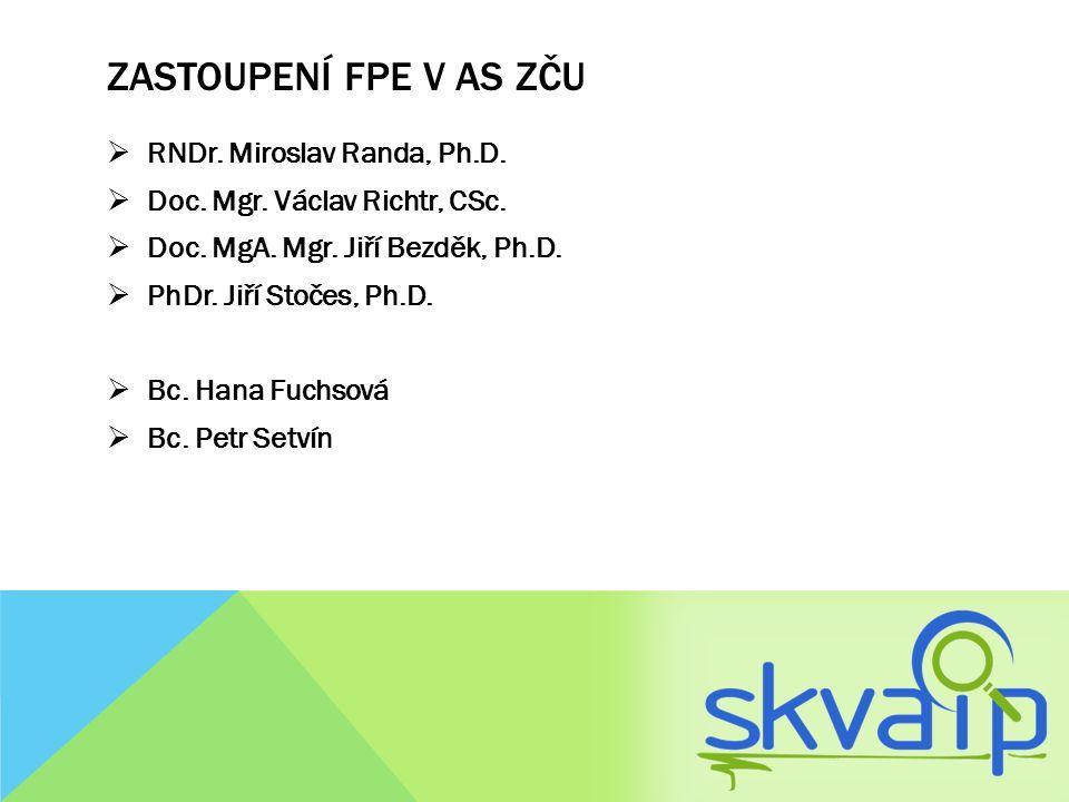 zastoupení FPE v AS ZČU RNDr. Miroslav Randa, Ph.D.