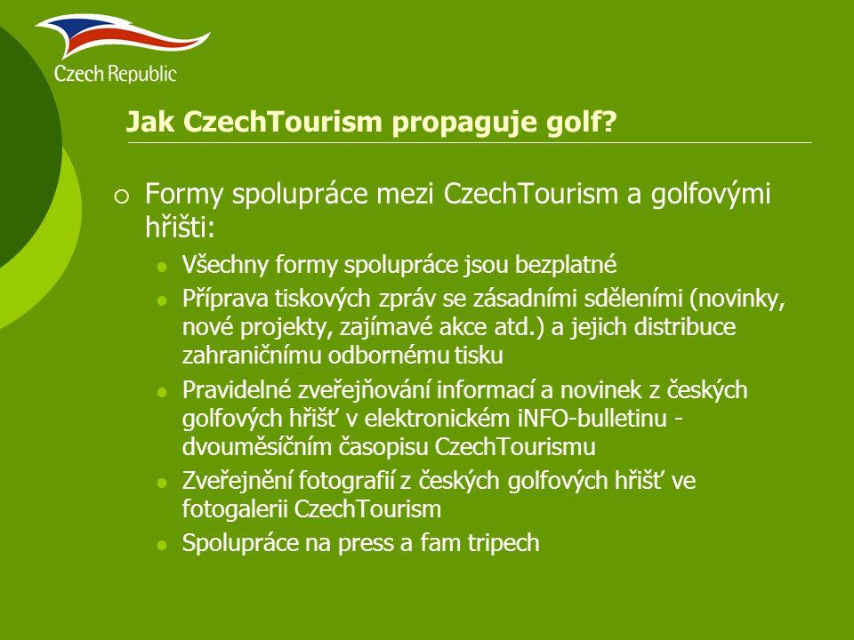 Jak CzechTourism propaguje golf