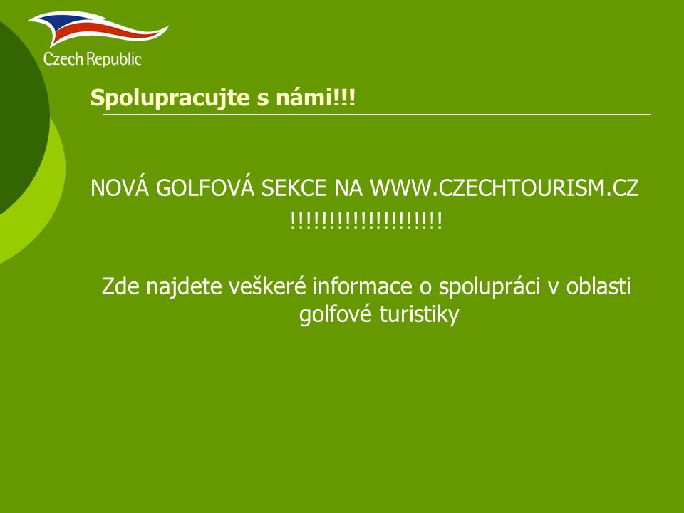 Zde najdete veškeré informace o spolupráci v oblasti golfové turistiky