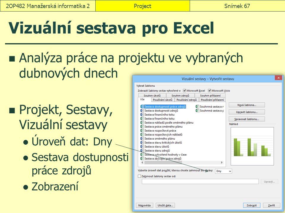 Vizuální sestava pro Excel