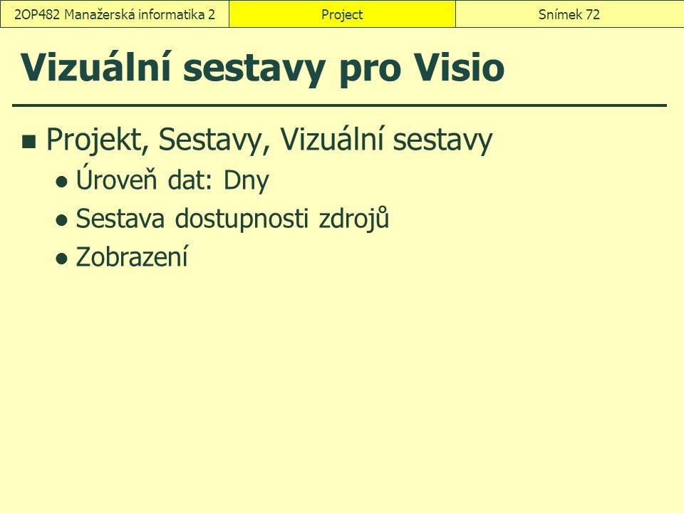 Vizuální sestavy pro Visio