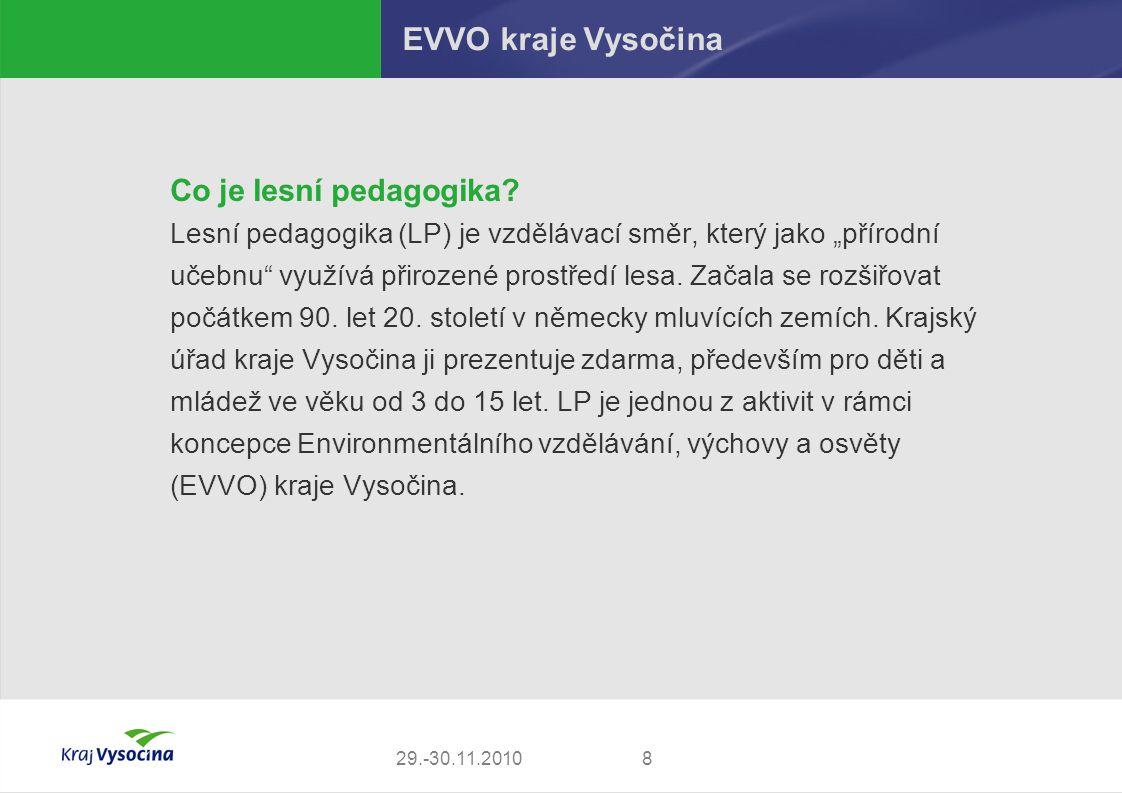 EVVO kraje Vysočina Co je lesní pedagogika
