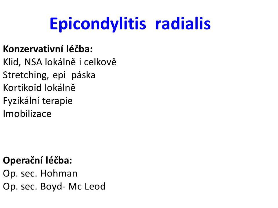 Epicondylitis radialis