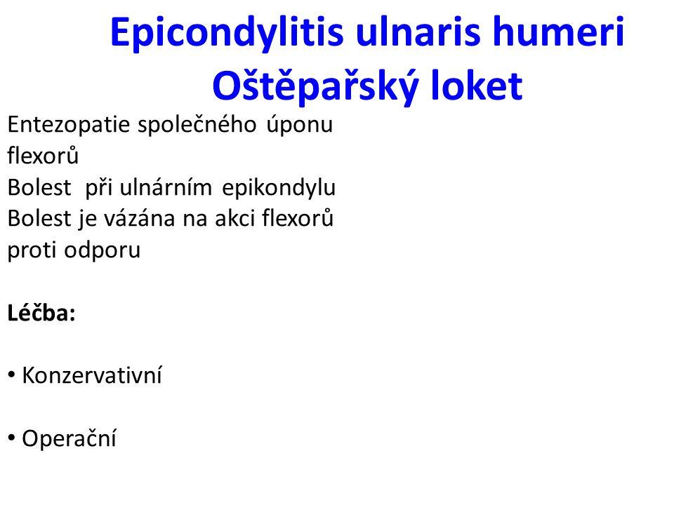 Epicondylitis ulnaris humeri