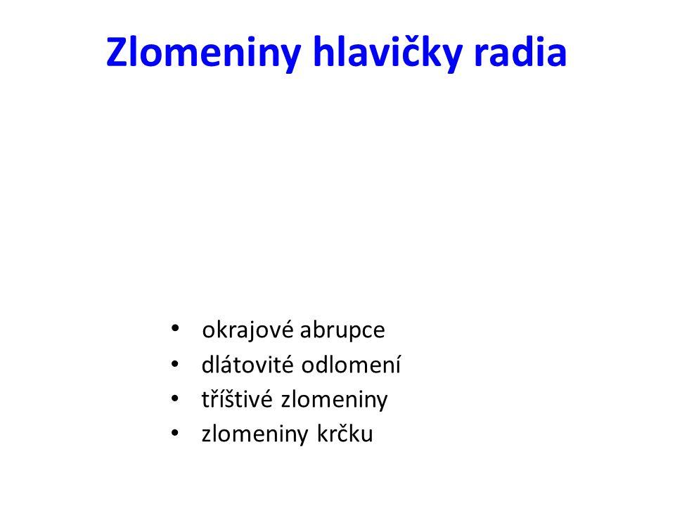 Zlomeniny hlavičky radia