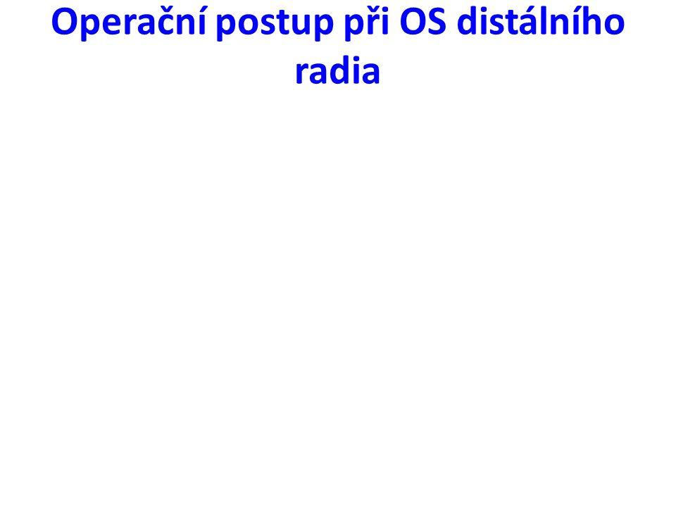 Operační postup při OS distálního radia