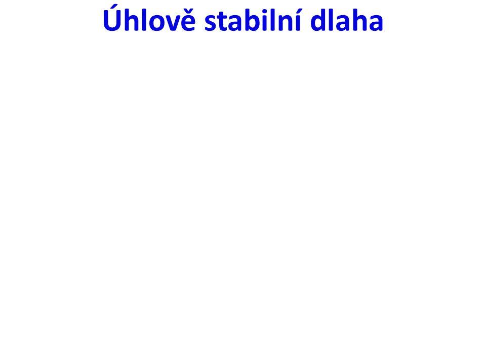 Úhlově stabilní dlaha