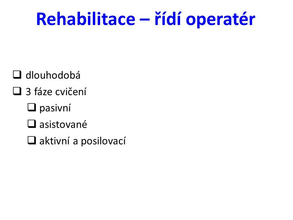 Rehabilitace – řídí operatér