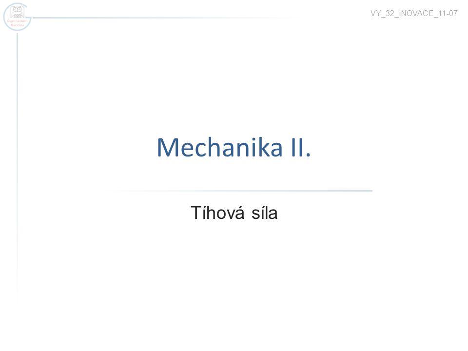 VY_32_INOVACE_11-07 Mechanika II. Tíhová síla