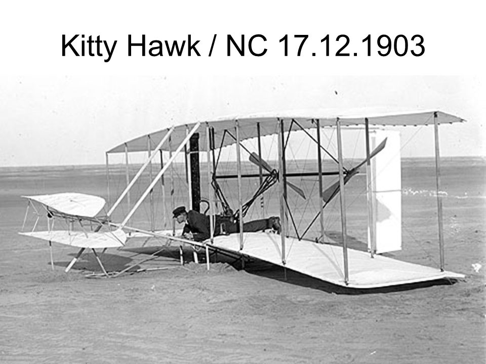 Kitty Hawk / NC 17.12.1903 obrazu a zvuku