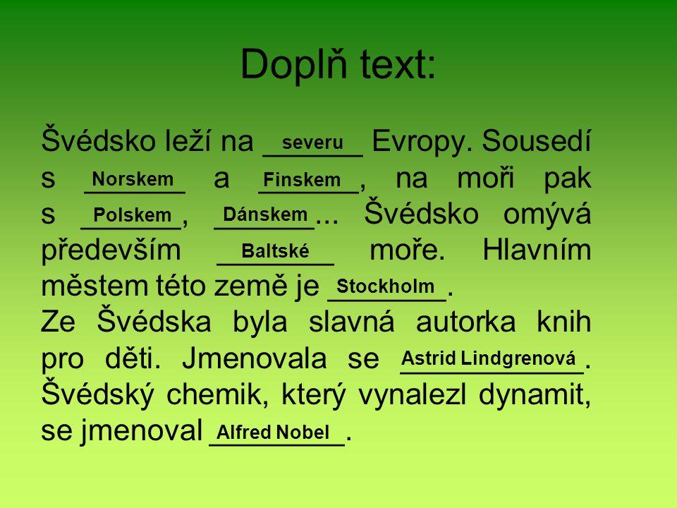 Doplň text: