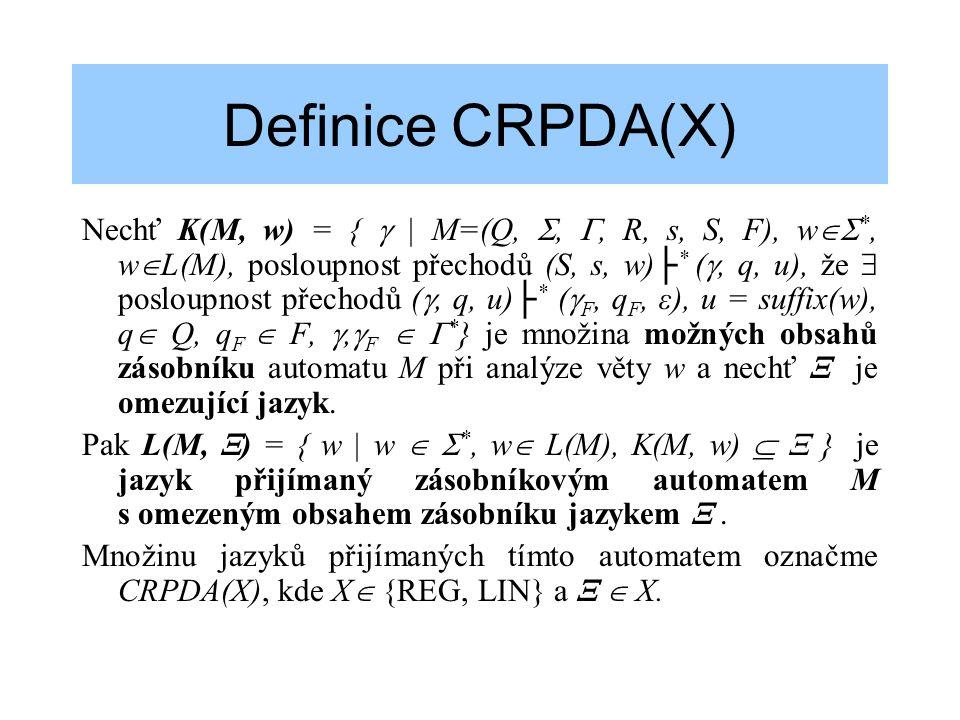 Definice CRPDA(X)