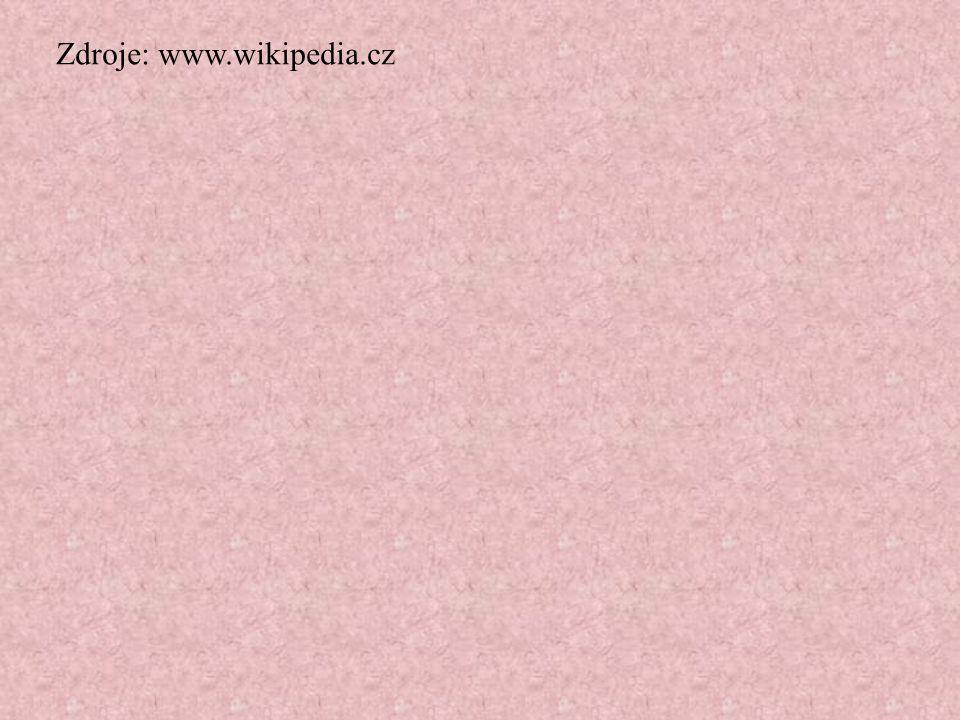 Zdroje: www.wikipedia.cz