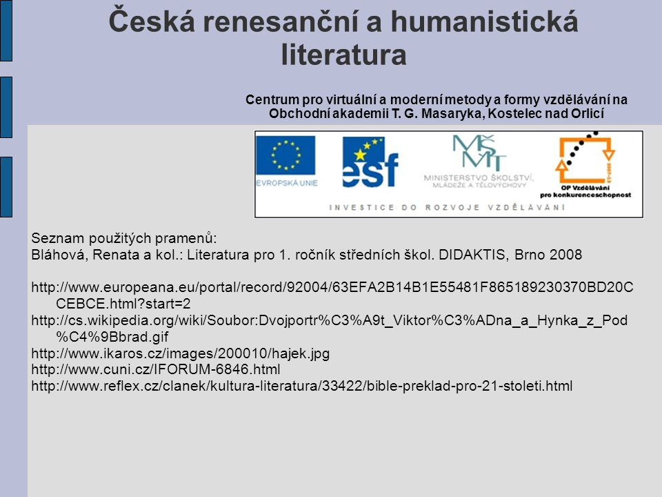 Česká renesanční a humanistická literatura