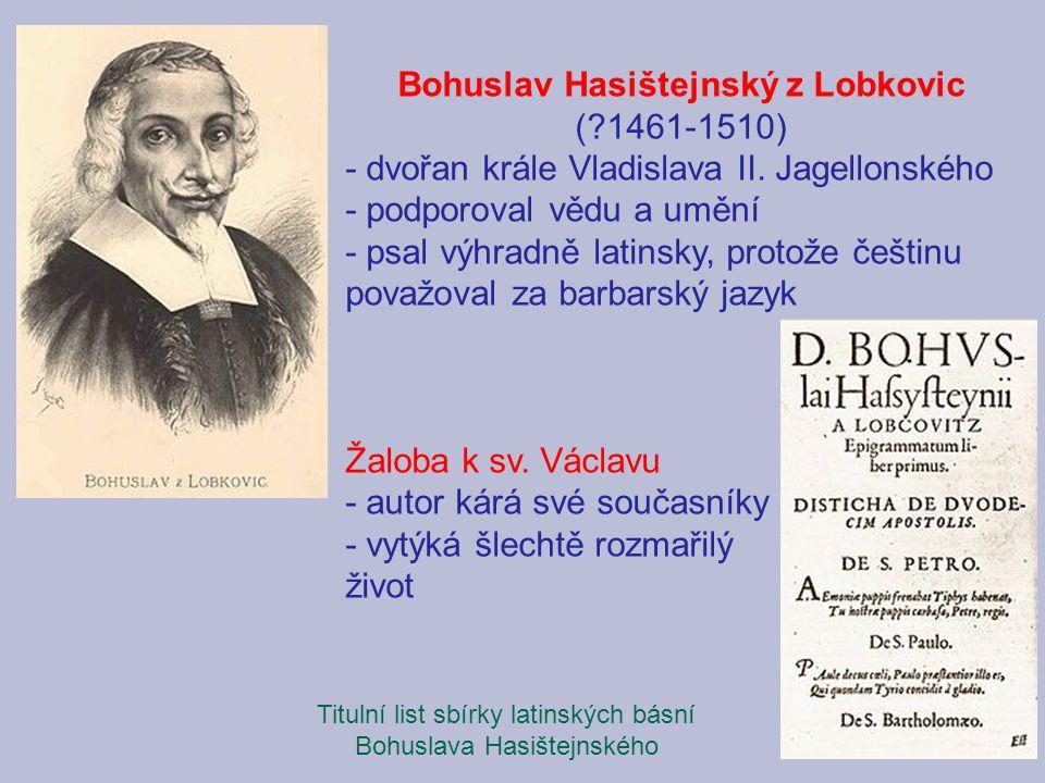 Bohuslav Hasištejnský z Lobkovic