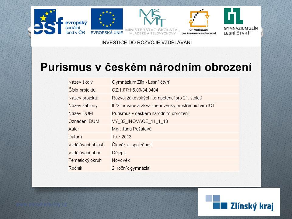 Purismus v českém národním obrození