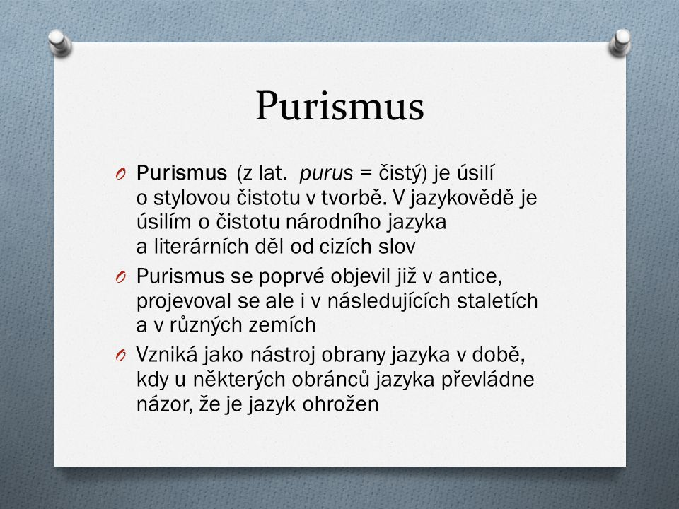 Purismus