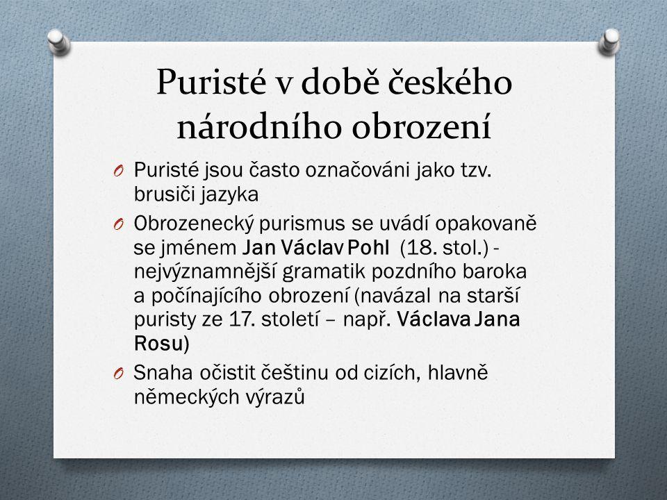 Puristé v době českého národního obrození