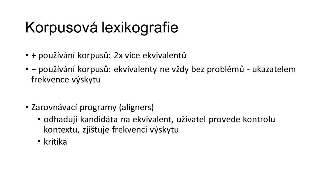 Korpusová lexikografie
