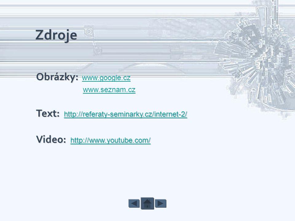 Zdroje Obrázky: www.google.cz