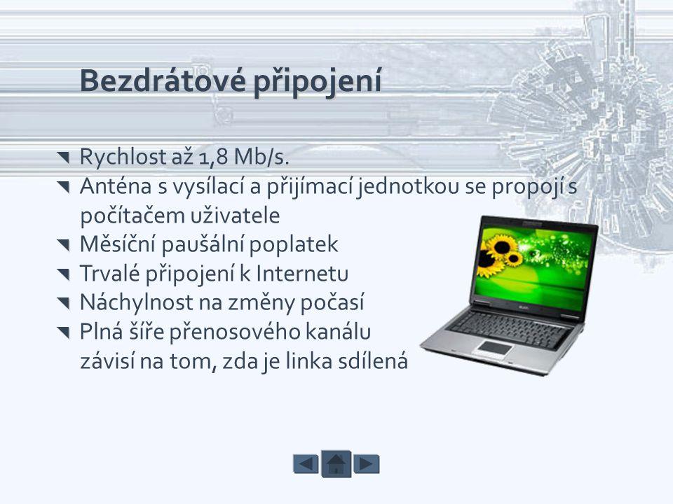Bezdrátové připojení počítačem uživatele
