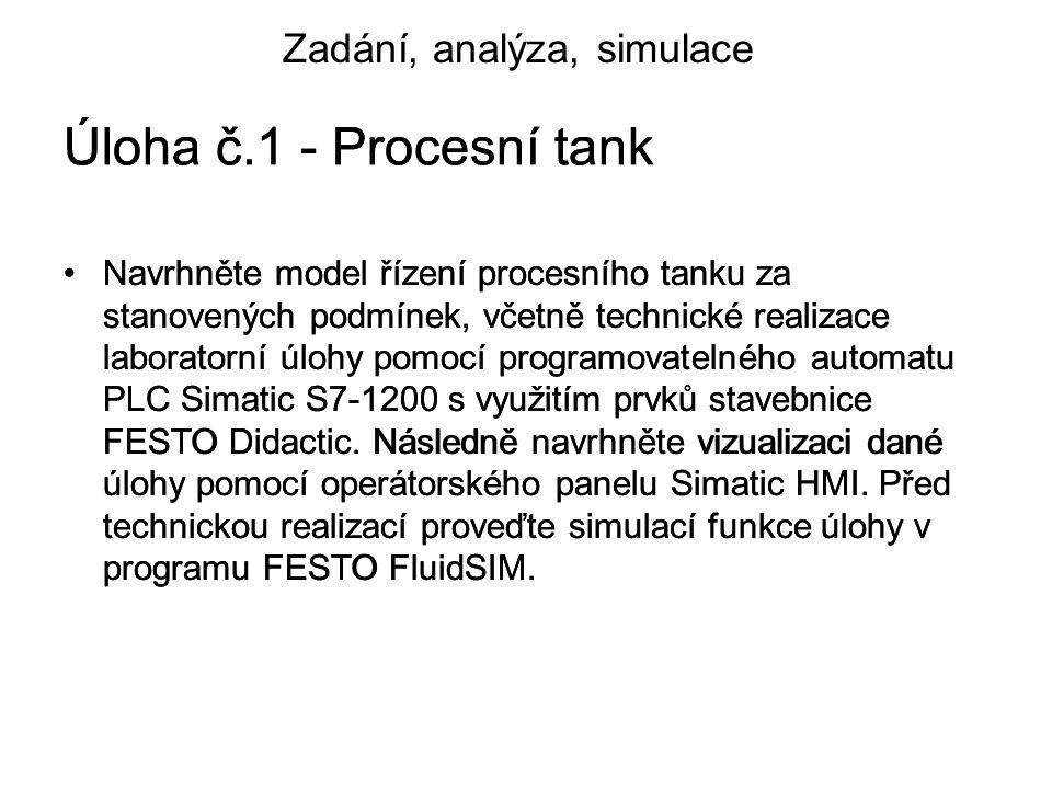 Úloha č.1 - Procesní tank Úloha č.1 - Procesní tank