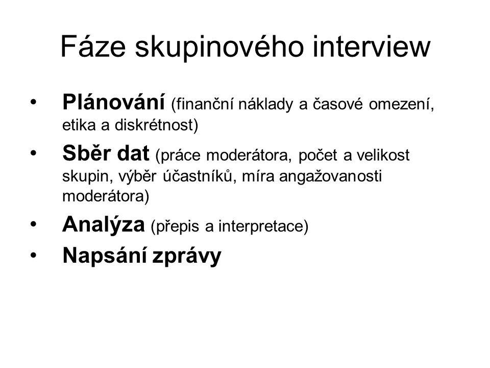 Fáze skupinového interview
