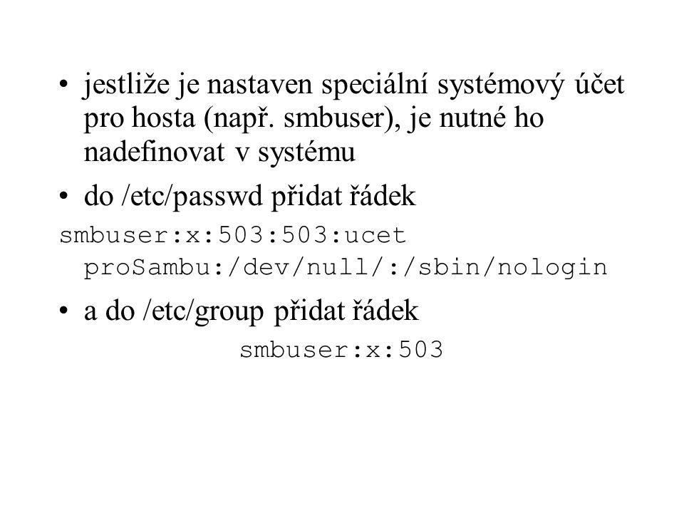 do /etc/passwd přidat řádek