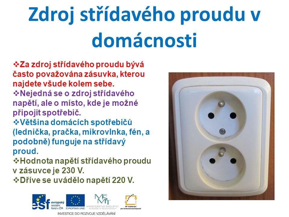 Zdroj střídavého proudu v domácnosti