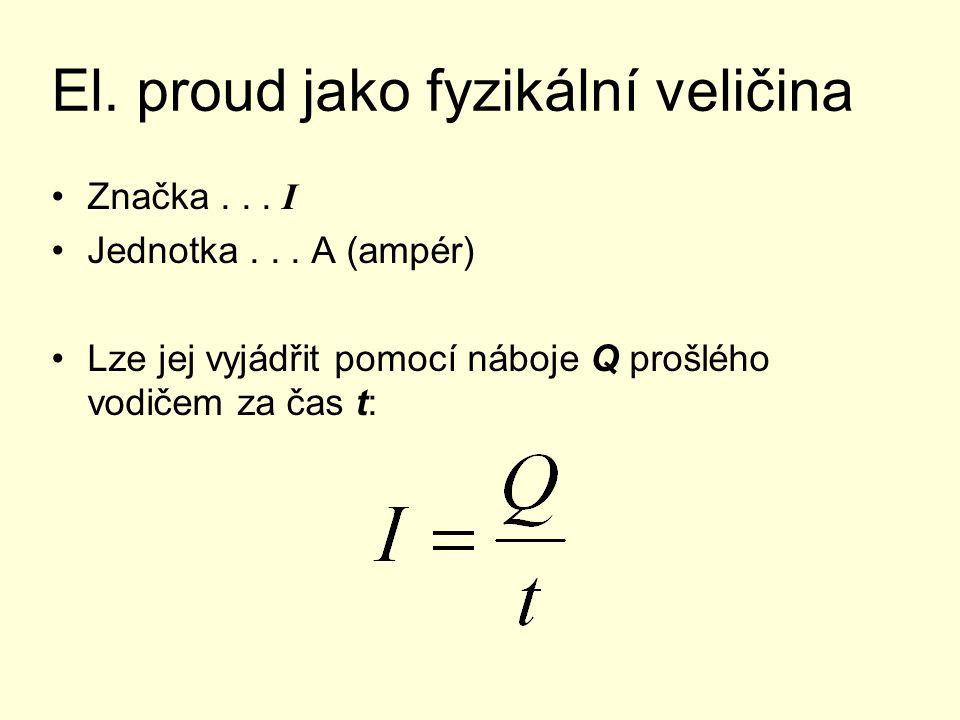 El. proud jako fyzikální veličina