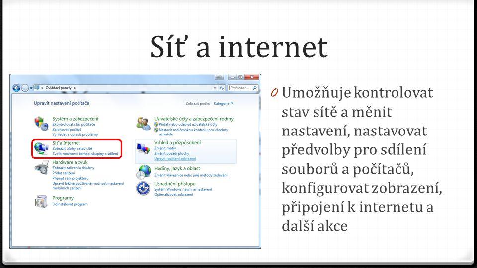 Síť a internet