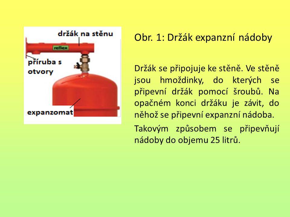 Obr. 1: Držák expanzní nádoby