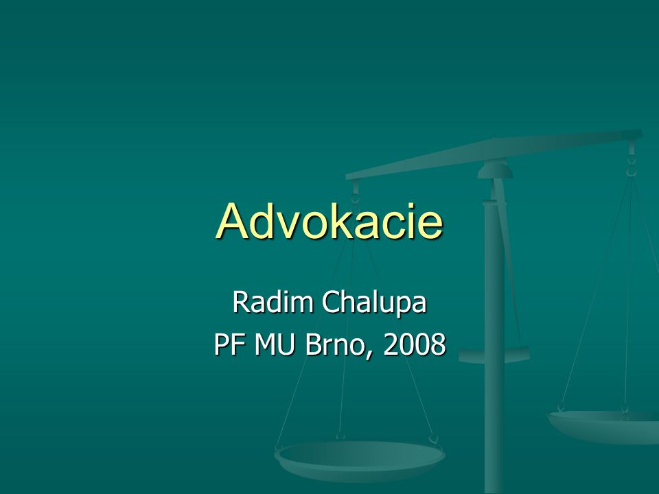 Radim Chalupa PF MU Brno, 2008